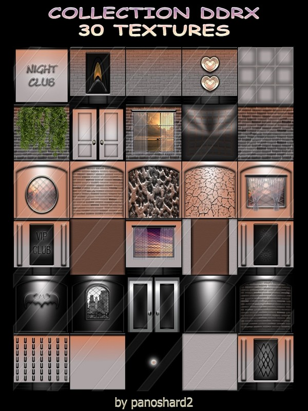 COLLECTION DDRX 30 TEXTURES FOR IMVU CREATOR ROOMS ( will be sold to ten creator)
