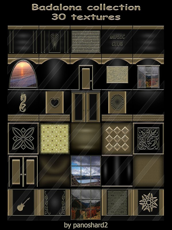 Badalona collection 30 textures imvu for the construction of rooms ( will be sold to ten creator)