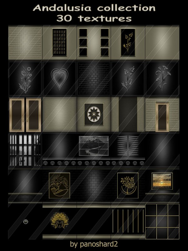 Andalusia collection 30 textures for imvu rooms