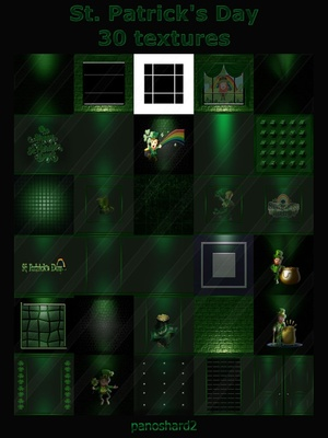 St. Patrick's Day 30 textures for imvu room