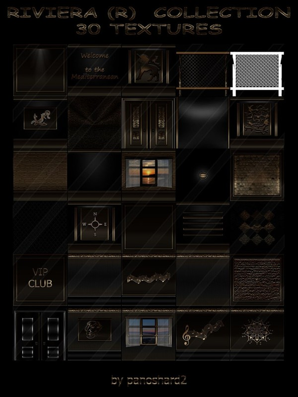 RIVIERA (R)  COLLECTION 30 TEXTURES FOR IMVU ROOMS