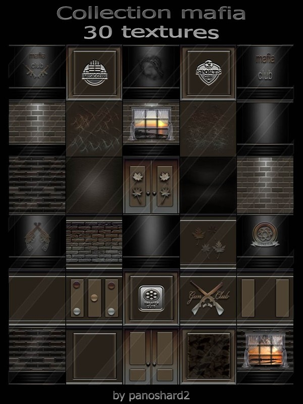 Collection mafia 30 textures for imvu creator rooms (will be sold to ten creators)