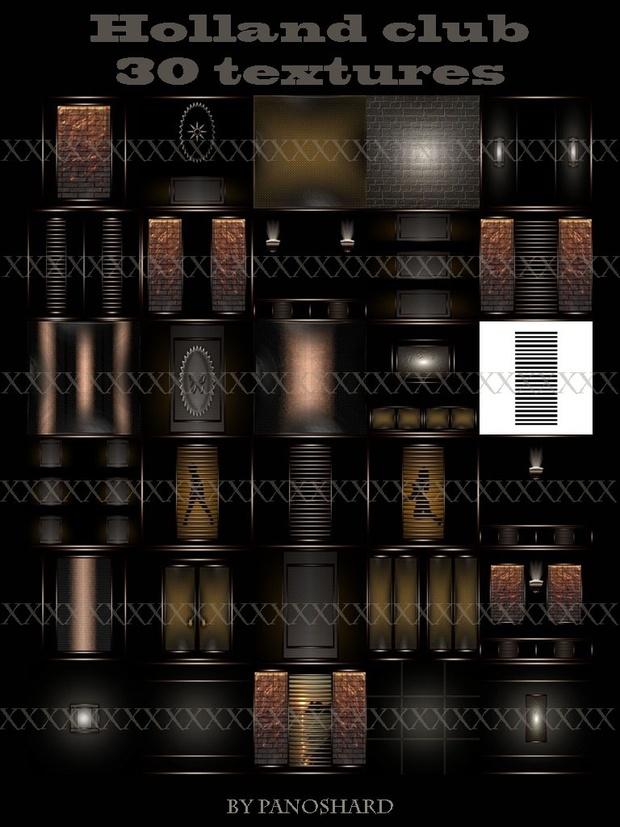 Holland club 30 textures imvu room