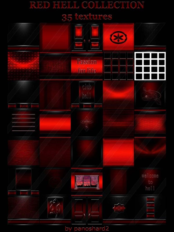 RED HELL COLLECTION 35 TEXTURES FOR IMVU ROOMS (will be sold to ten creators) prevent !!!