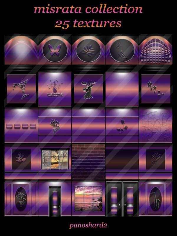 misrata collection 25 textures for imvu rooms