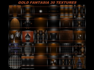 Gold fantasia 30 textures