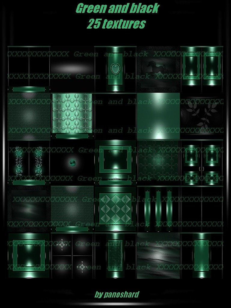 Green And Black 25 Textures Imvu Panoshard2 Textures
