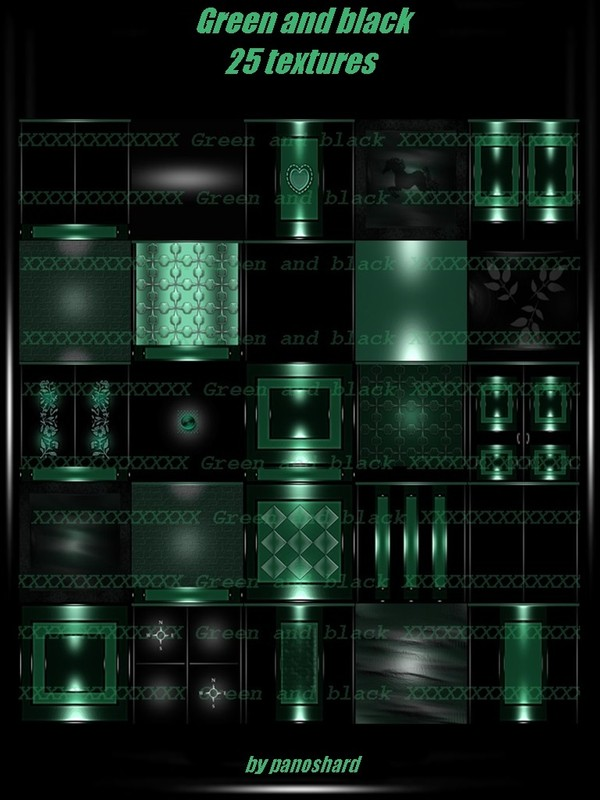 Green and black 25 textures imvu