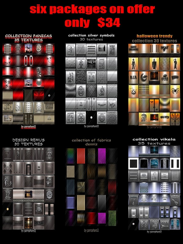 six new packages textures on offer only $34  (Offer for a few days)