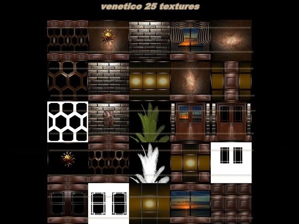 Venetiko 25 textures FOR IMVU CREATOR ROOMS