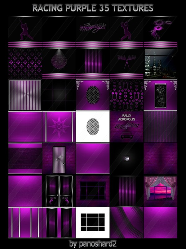 RACING PURPLE 35 TEXTURES IMVU ROOM