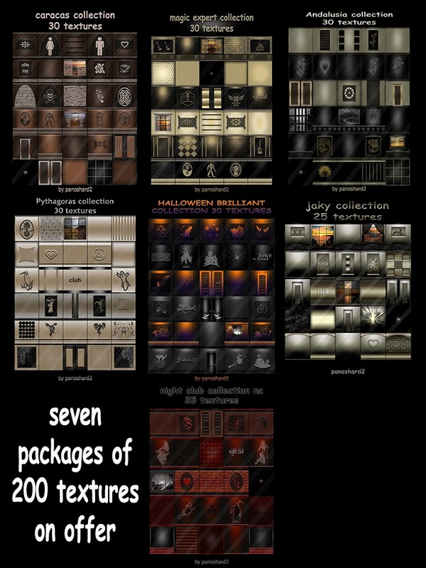 seven packages of 200 textures on offer