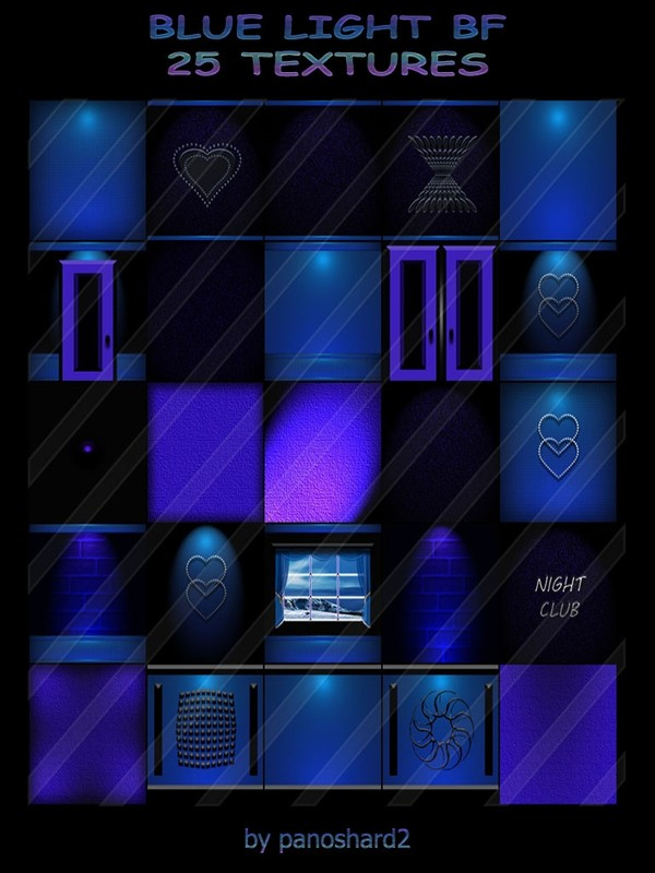 BLUE LIGHT BF 25 TEXTURES  FOR IMVU CREATOR ROOMS ( will be sold to ten creator)