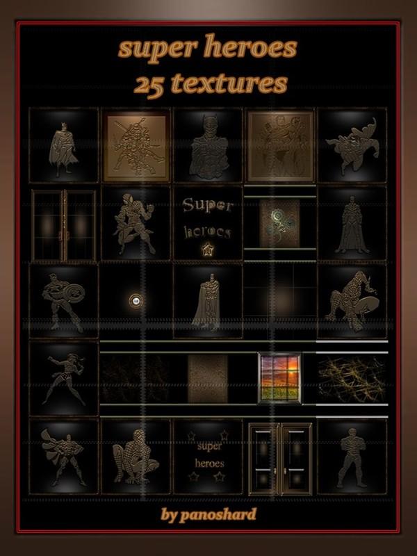 Super heroes 25 textures room imvu