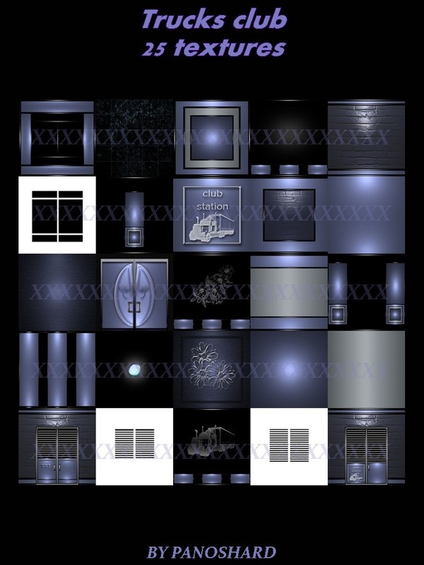 Trucks club 25 textures for imvu   rooms