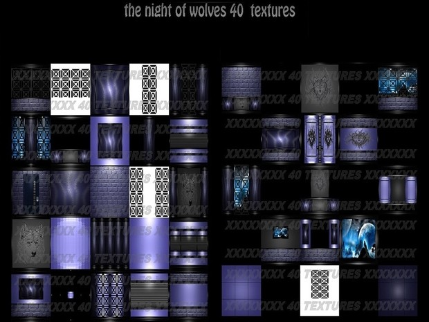 The night of wolves 40 textures IMVU