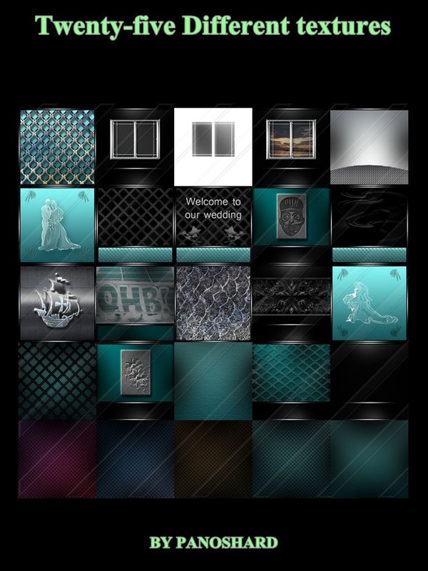 Twenty-five Different  textures for imvu rooms