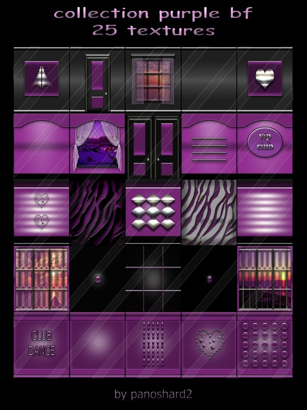 collection purple bf 25 textures for rooms