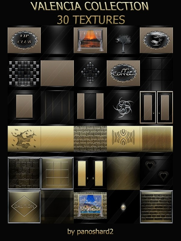 VALENCIA COLLECTION 30 TEXTURES FOR IMVU ROOMS