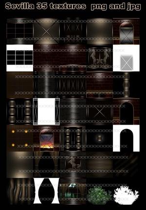 sevilla 35 textures imvu  jpg and png format