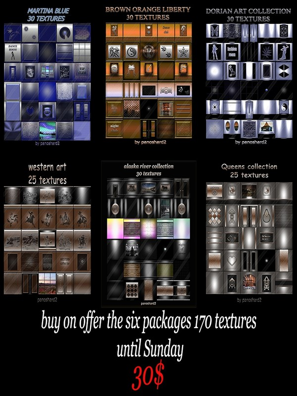 buy on offer the six packages 170 textures until Sunday