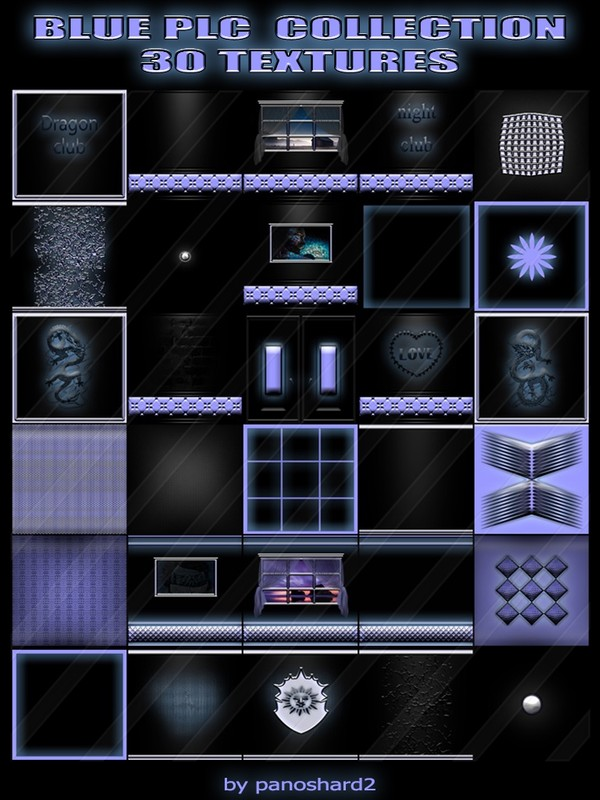 BLUE PLC  COLLECTION 30 TEXTURES FOR IMVU CREATOR ROOMS  (will be sold to ten creators)