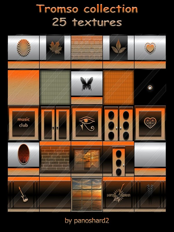 Tromso collection 25 textures for imvu creator rooms ( will be sold to ten creator)