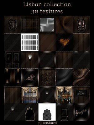 Lisbon  collection 30 textures for imvu room