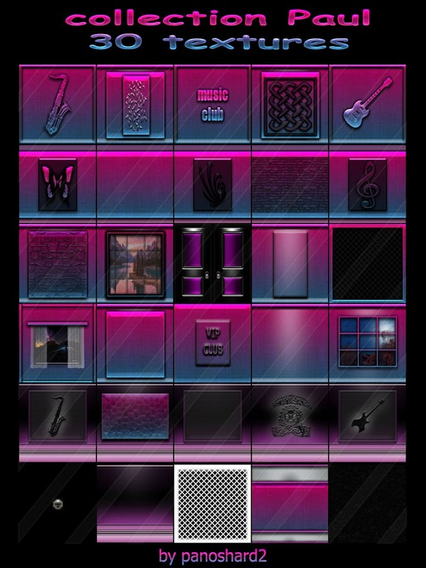 Collection Paul 30 textures for imvu creator rooms (will be sold to ten creators)