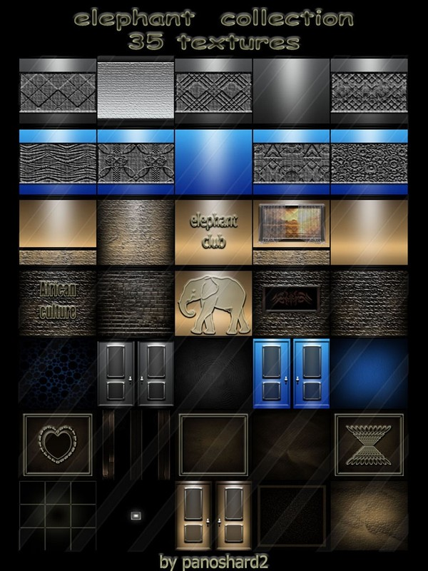 Elephant  collection 35 textures  for imvu rooms   (will be sold to ten creators) prevent !!!
