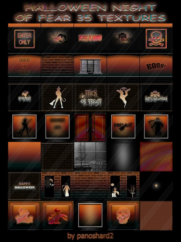 HALLOWEEN NIGHT  OF FEAR 35 TEXTURES FOR IMVU CREATOR ROOMS (will be sold to ten creators)