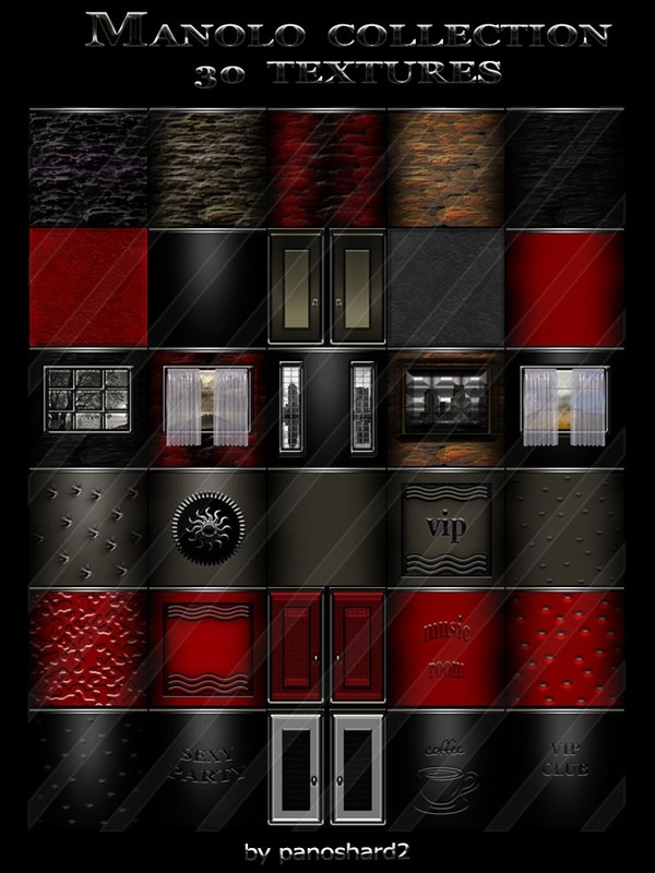 MANOLO COLLECTION 30 TEXTURES  FOR IMVU ROOMS