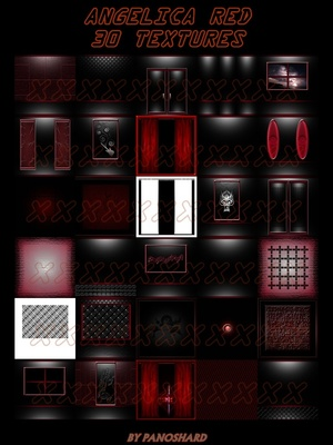 ANGELICA RED 30 TEXTURES IMVU ROOM
