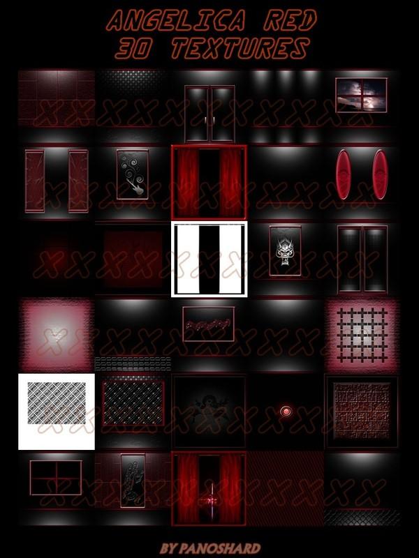 ANGELICA RED 30 TEXTURES IMVU ROOM