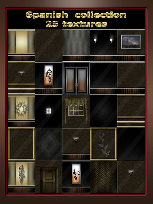 Spanish collection 25 textures room