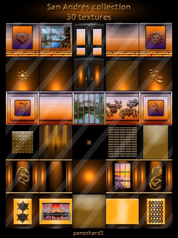 San Andrés collection 30 textures for imvu rooms