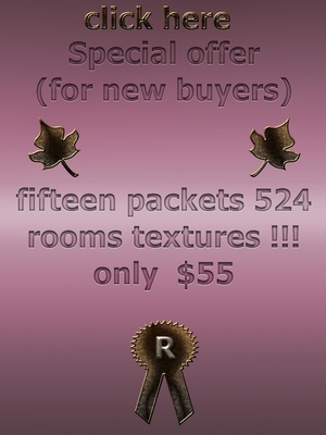 big  discount  special offer  fifteen packets 524 rooms textures imvu