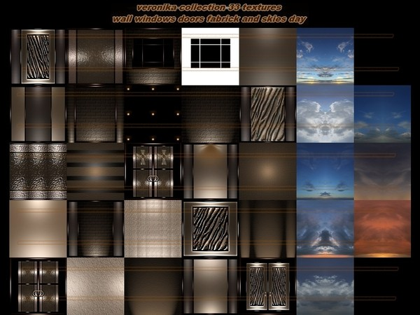Veronica collection 33 textures  FOR IMVU CREATOR ROOMS