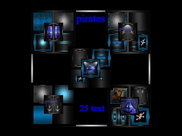 Pirates 25 textures for imvu creator