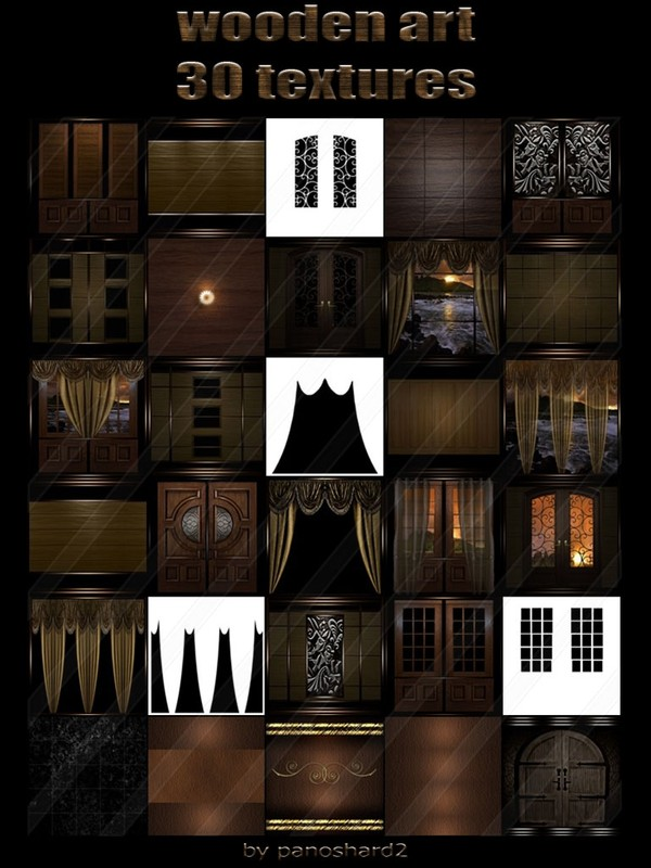wooden art 30 textures for imvu rooms