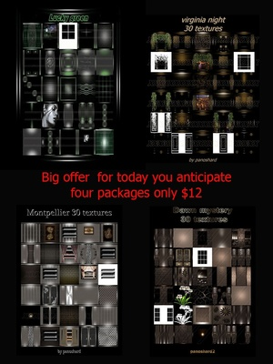 Big offer  for today you anticipate four packages only $12