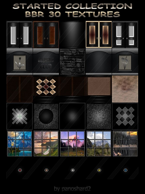 STARTED COLLECTION  BBR 30 TEXTURES FOR IMVU CREATOR ROOMS (will be sold to ten creators)