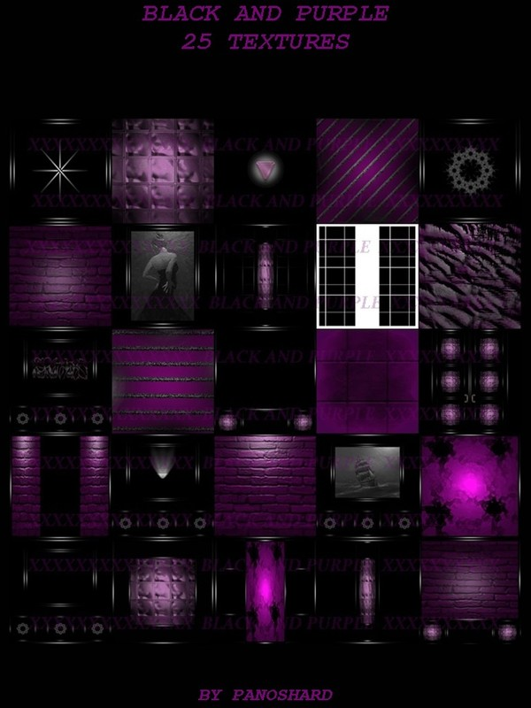 BLACK AND PURPLE 25 TEXTURES IMVU