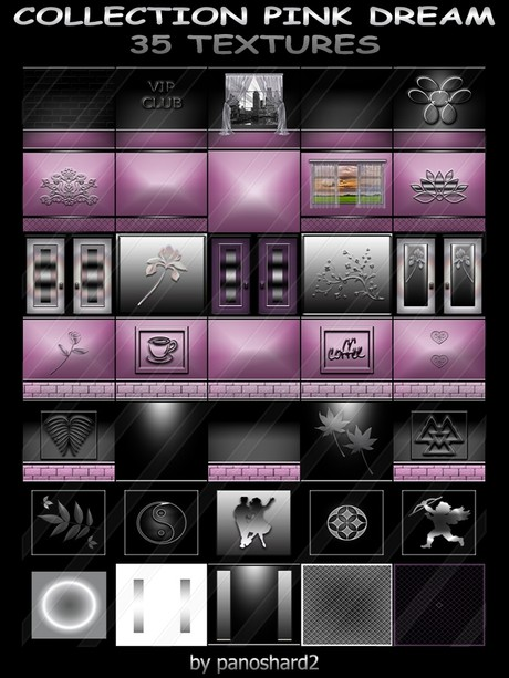 COLLECTION PINK DREAM 35 TEXTURES FOR IMVU CREATOR ROOMS (will be sold to ten creators)