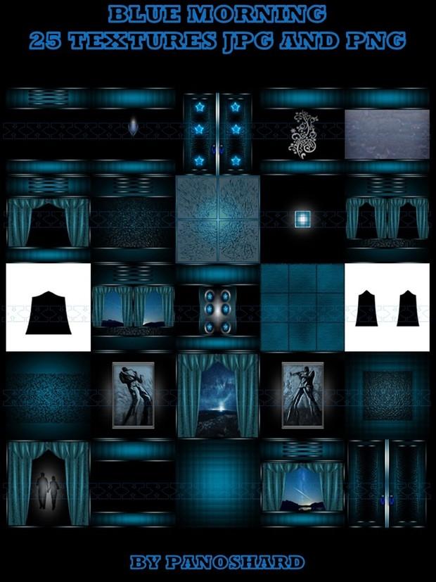 BLUE MORNING 25 TEXTURES IMVU ROOM