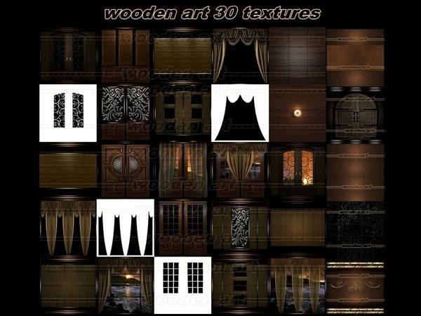 wooden art 30 textures