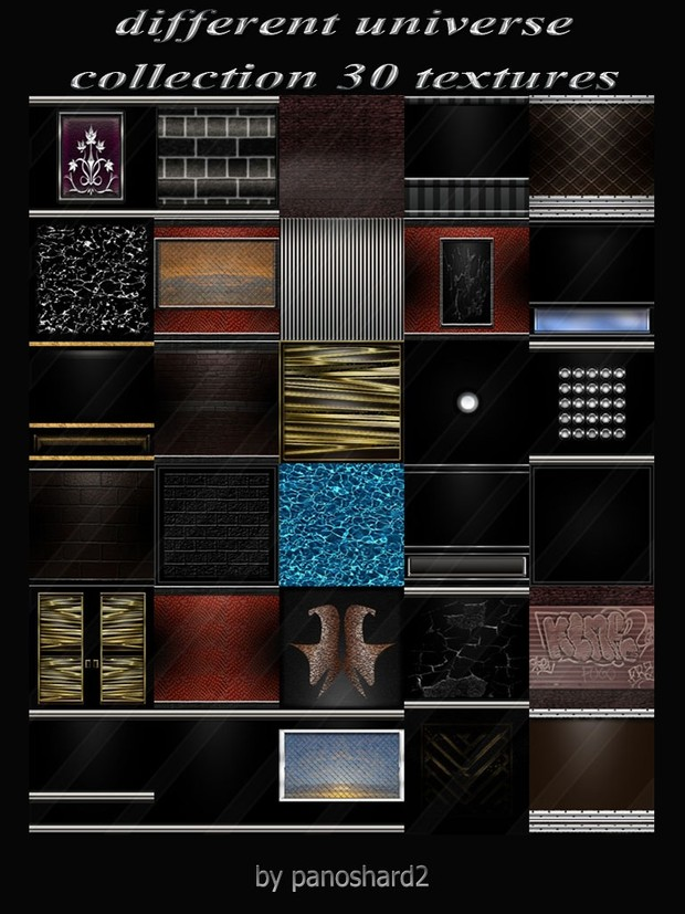 different universe collection 30 textures for imvu room