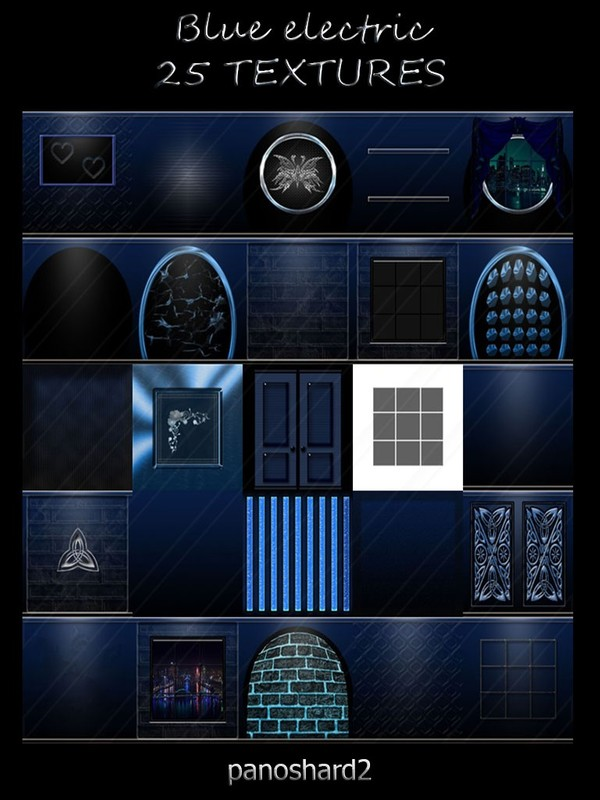 Blue electric 25 textures imvu room