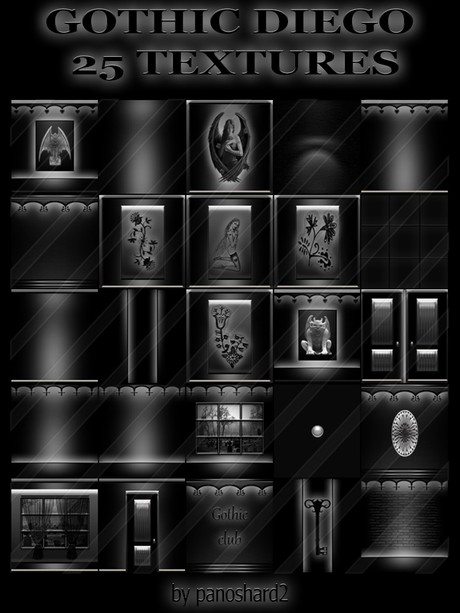 GOTHIC DIEGO 25 TEXTURES FOR IMVU CREATOR ROOMS  ( will be sold to ten creator )