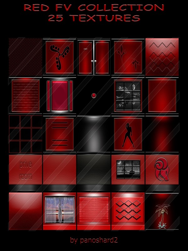 RED FV COLLECTION 25 TEXTURES